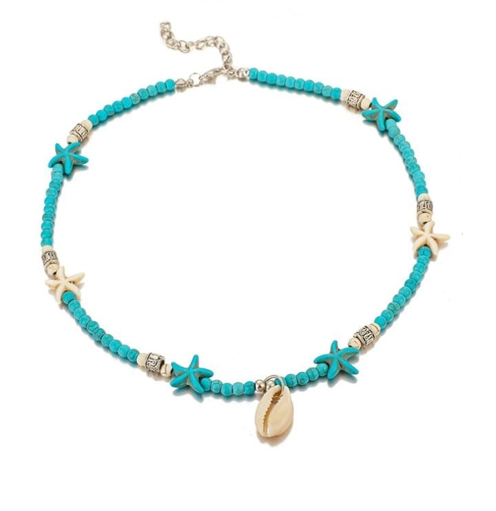 Collier turquoise bleu