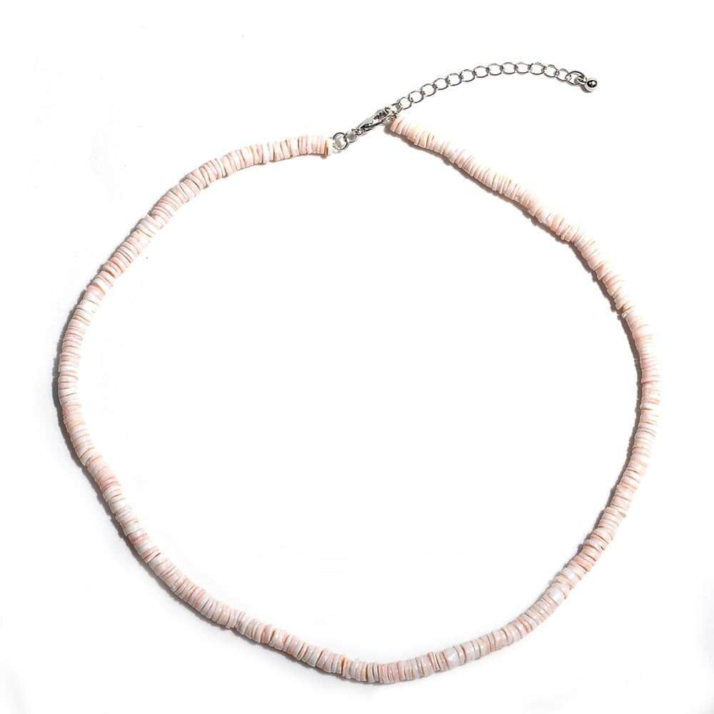 collier coquillage perle