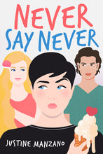Load image into Gallery viewer, Never Say Never by Justine Manzano - Paperback Preorder