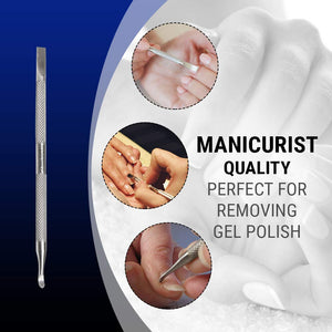 Professional Cuticle Pusher and Nail Cleaner Tool