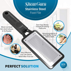 Premium Curved Pedicure Foot Rasp & Scrubber