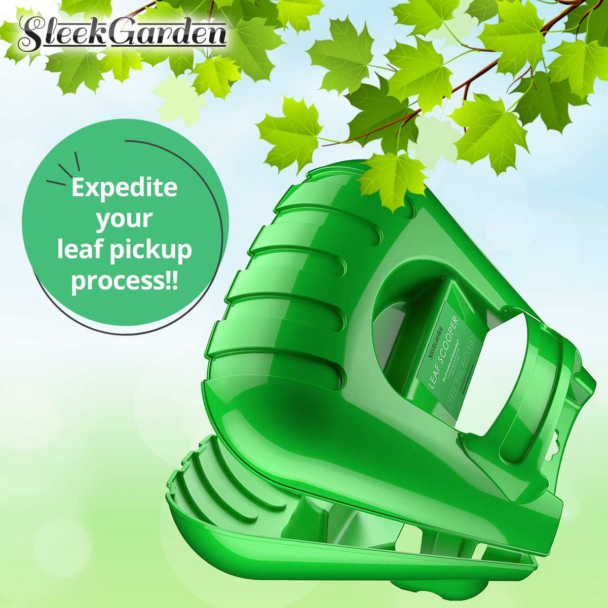 Collapsible Garden Waste Bag + Leaf Scoop Hand Rakes