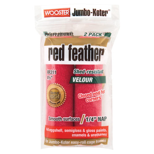 "Jumbo-Koter® Red Feather™ 4-1/2"" Roller Cover 1/4"" Nap"