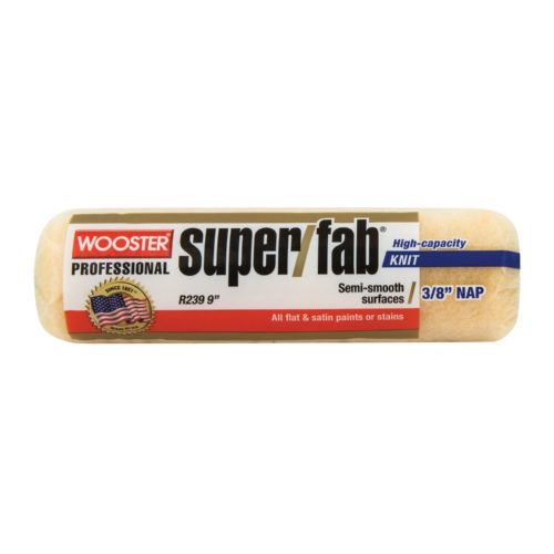 "Wooster 9"" Super/Fab Roller Cover, 1/2"" Nap Semi-rough"