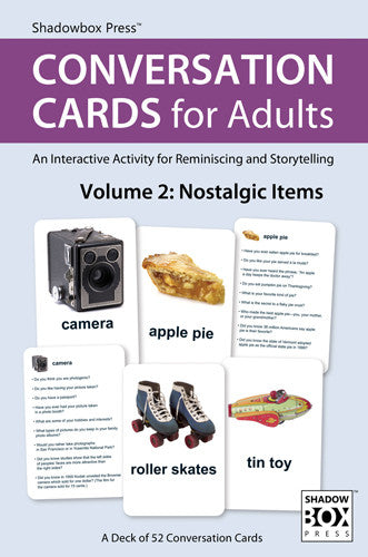 CONVERSATION CARDS for Adults – Nostalgic Items