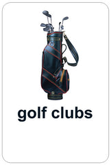 Conversation Card – golf clubs – front