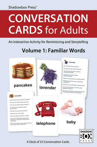 CONVERSATION CARDS for Adults – Familiar Words