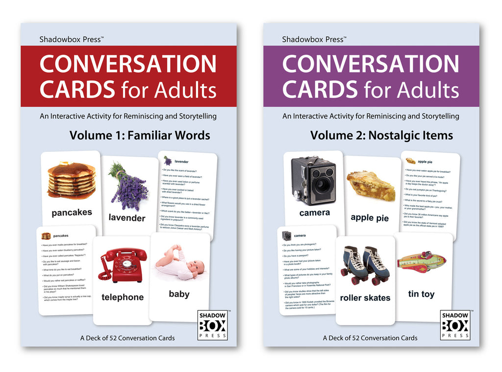 CONVERSATION CARDS for Adults – Familiar Words & Nostalgic Items