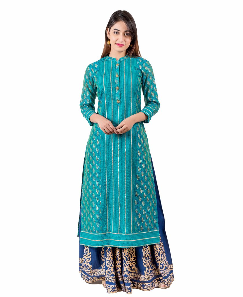 e46b1cb13c Ethnic Crop Top And Skirt Set Online India