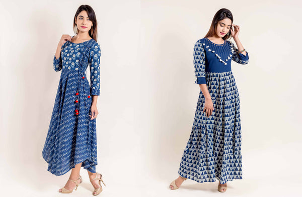 Top 10 Trendy And Fashionable Indigo Dress Of Missprint