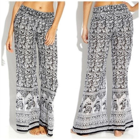 Beach Style Casual Boho Chic Style Palazzos