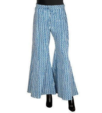 Blue / White Hand Block Printed Palazzos