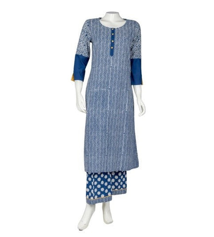 Color Block Print Kurtis