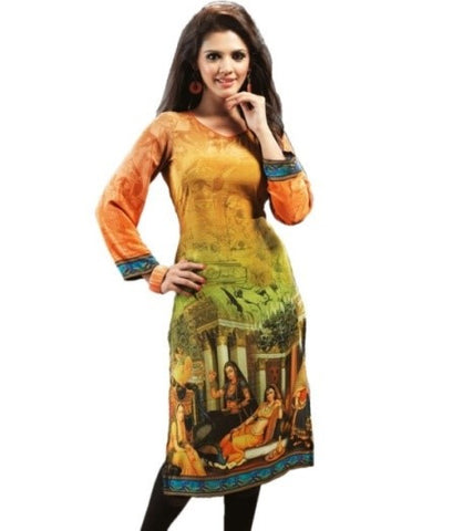 Digital Printed Shirt Style Kurtis