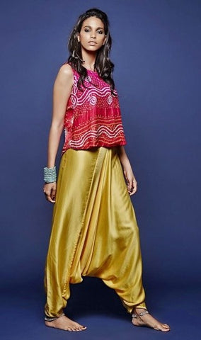 Ethnic Tops with Silk Salwar
