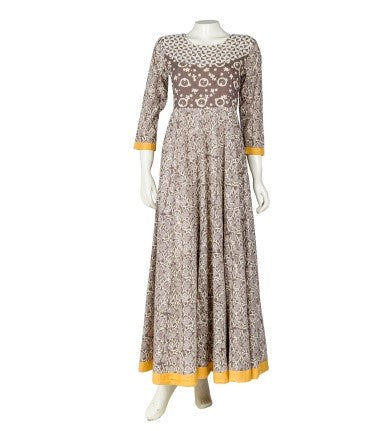 Floor Length Flare Indo Western Dress