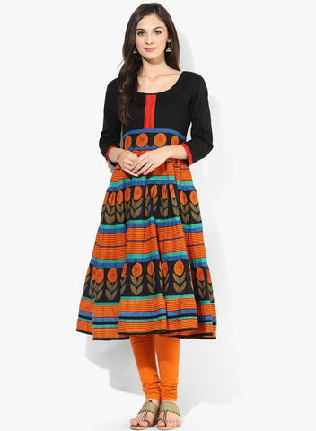 Hand Block Printed Anarkali Kurtis and Suits