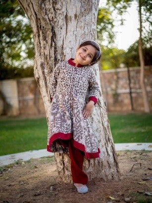 Indo Western Kurta Dress For Baby Girl