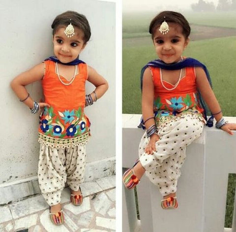 Indo Western Pant Suit for the baby girls