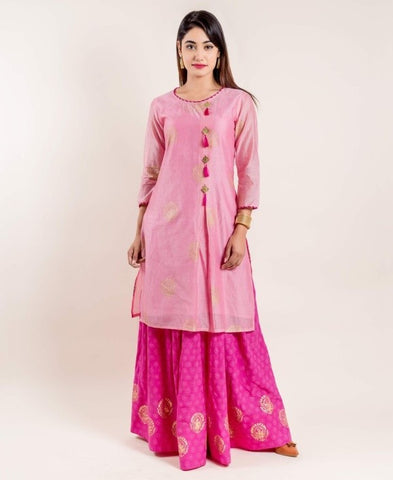 Kurti dress with designer skirt