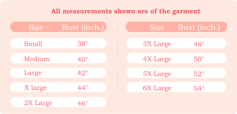 Missprint - Size Guide