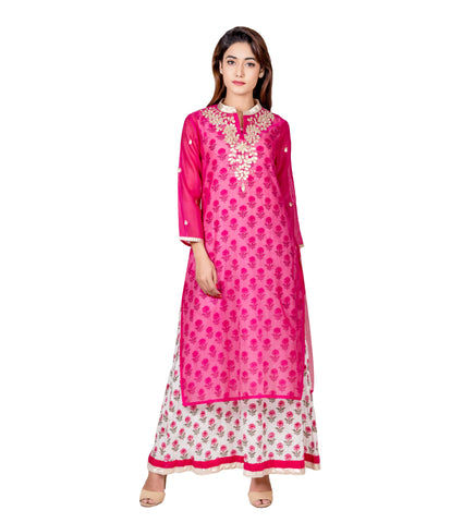 Pink indo western dress for engagement