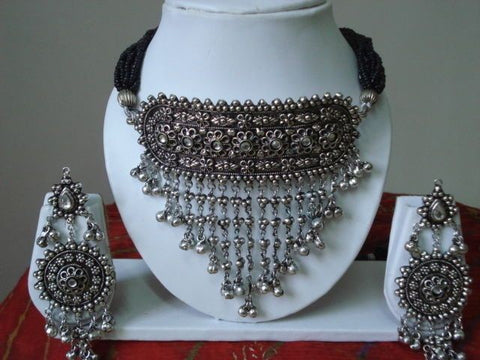 Statement jewelry and embellished Dupattas