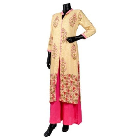 Straight Cut Centre Slit Printed Kurta