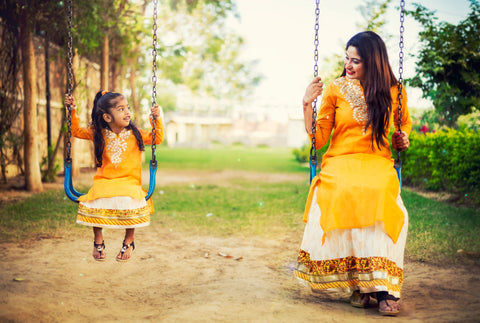 indo western for girl kid