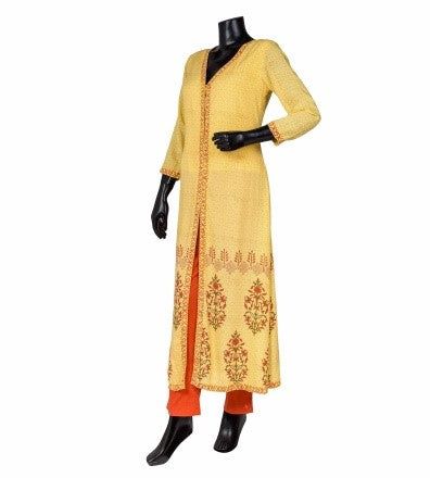V-Neck Cape Kurta Indo Western Dress with Palazzo