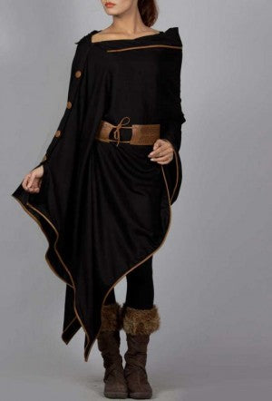 Black Cape Kurta