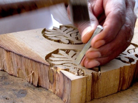 hand block patterns by local artisans and craftsmen