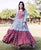 Anarkali Floor Length Block Printed Dress