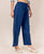 Cotton Indigo Embroidered Palazzo Pants