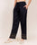 Cotton Embroidered Solid Black Palazzo Pants