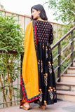 Bell Sleeves Angrakha Style Cotton Dress with Dupatta online shopping