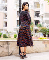 Black Multi Coloured Angrakha Dress