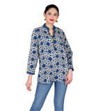 Block Printed Ethnic Top