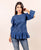 Blue Pintuck Cotton Top with Signature Sleeves