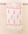 White and Pink Block Printed Chanderi Dupatta