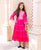 Fuchsia Long Dress with Gota Trim for Baby Girl