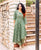 Green Asymmetrical Kurta with Straight Printed Pants