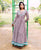 Hand Block Printed Anarkali Dress with Full Churidaar Sleeves