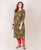 Olive Straight Cut Block Printed Kurta ( 1 Pc. )