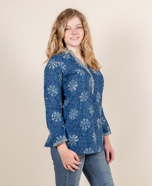 Indigo Cotton Top