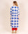 White and Blue Hand Block Printed Indo Western Kurta