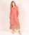 Pink Chanderi Jacket Kurta with Palazzo