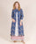Blue and White Jacket Kurta Dress