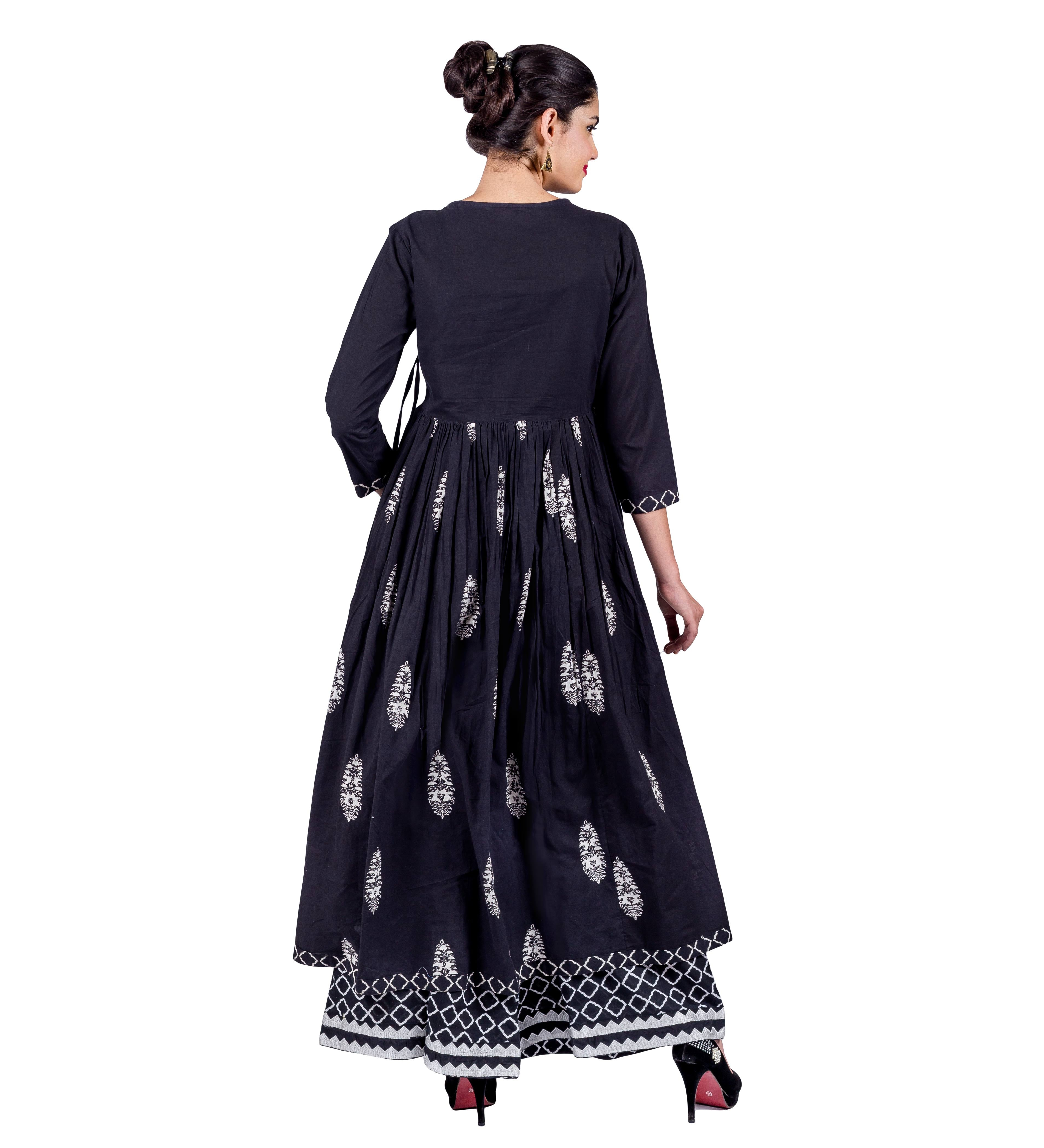 Party wear Angrakha Style Ball Gown Indo Western Kurti
