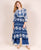 Asymmetrical Tie and Dye Indo Western Dress with Indigo Palazzo